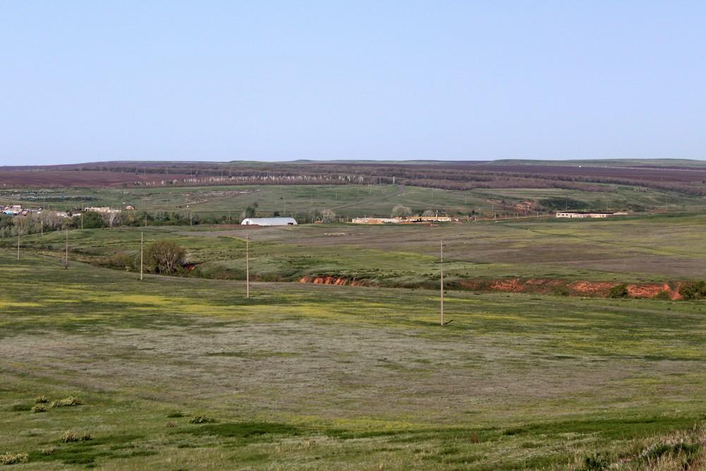 Вид с горы Горюн на волчий овраг.