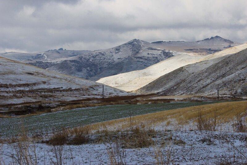 горный пейзаж во внутренней монголии, китай
