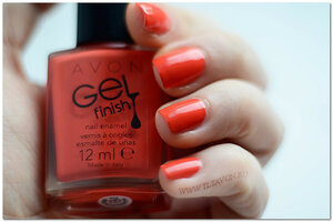 Апельсин. Orange Crush. Гель Эффект от Avon. Лак для ногтей