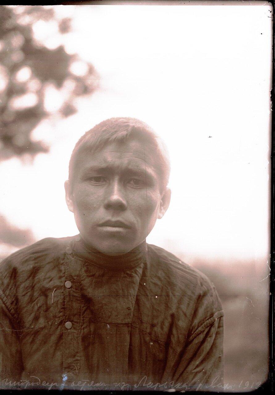 1912. Село Ларьяк. Молодой остяк