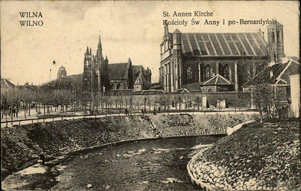 Костёлы Святой Анны и Бернардинский.1915