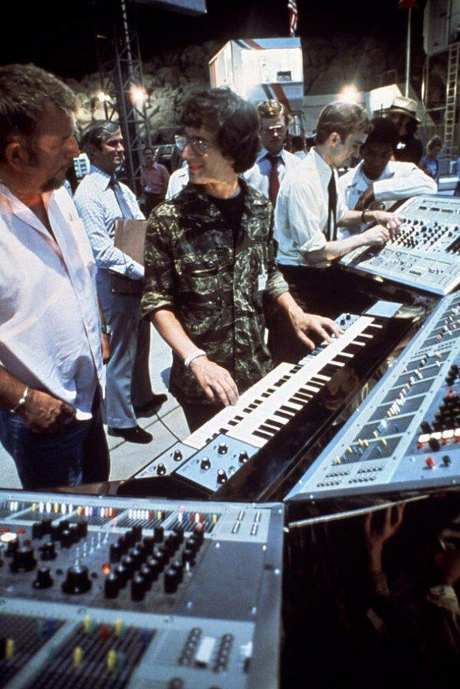 1977. Стивен Спилберг на съемках «Близкие контакты третьего вида»