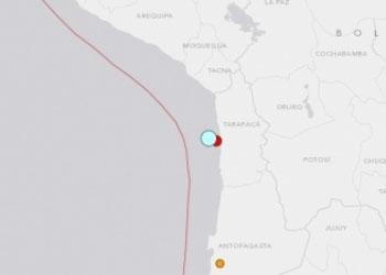 На северном побережье Чили произошло сильное землетрясение