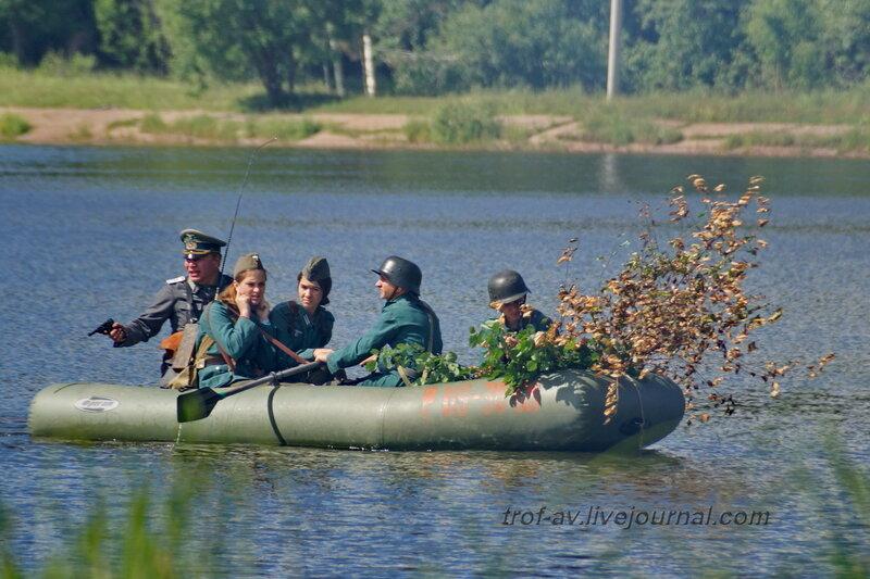Форсирование немцами реки (госграницы СССР). 22 июня, реконструкция начала ВОВ в Кубинке