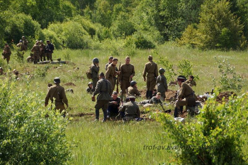 Подготовка к бою. 22 июня, реконструкция начала ВОВ в Кубинке (2 часть)