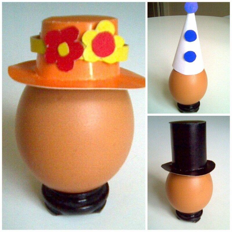 Детские поделки  - шляпки для яиц