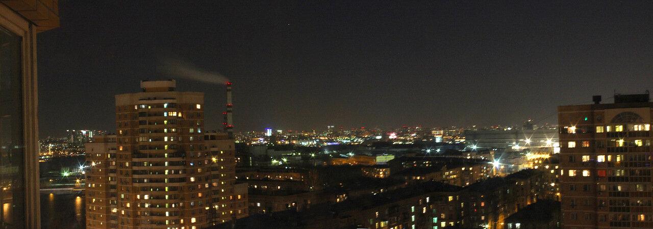 Вид из окна: Юго-Запад Москвы ночью