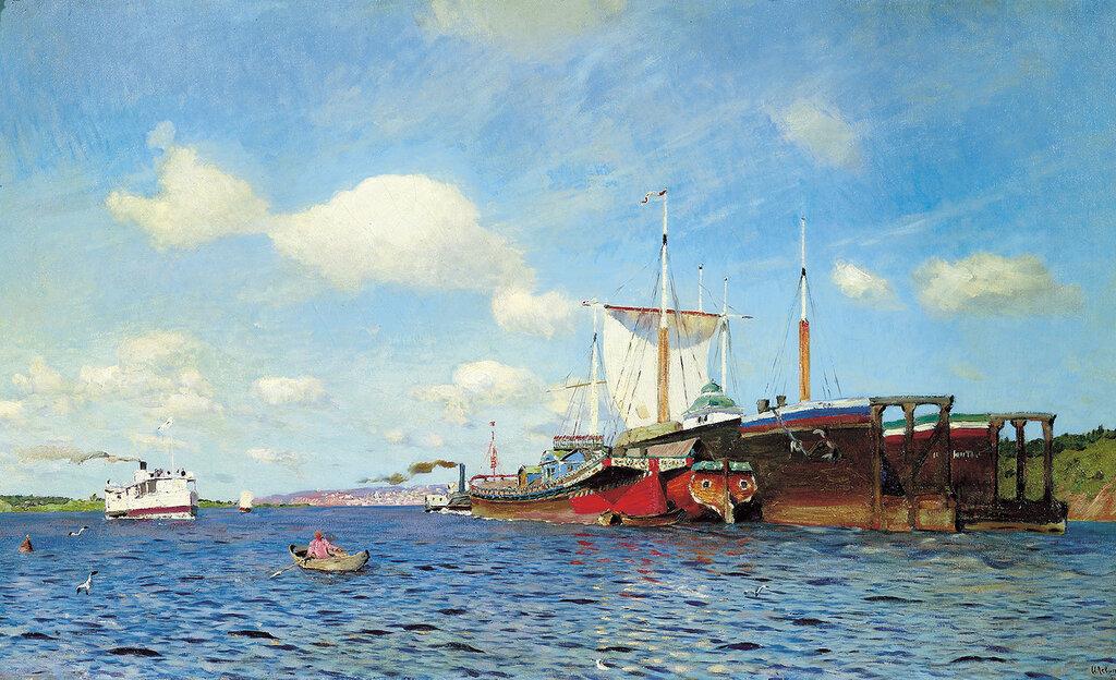 Свежий ветер. Волга. 1895, холст, масло, 72х123 см.jpg