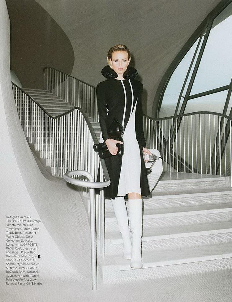 Наташа Поли в июльском журнале Harper's Bazaar