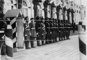 Дворцовый караул из офицеров и солдат полка .