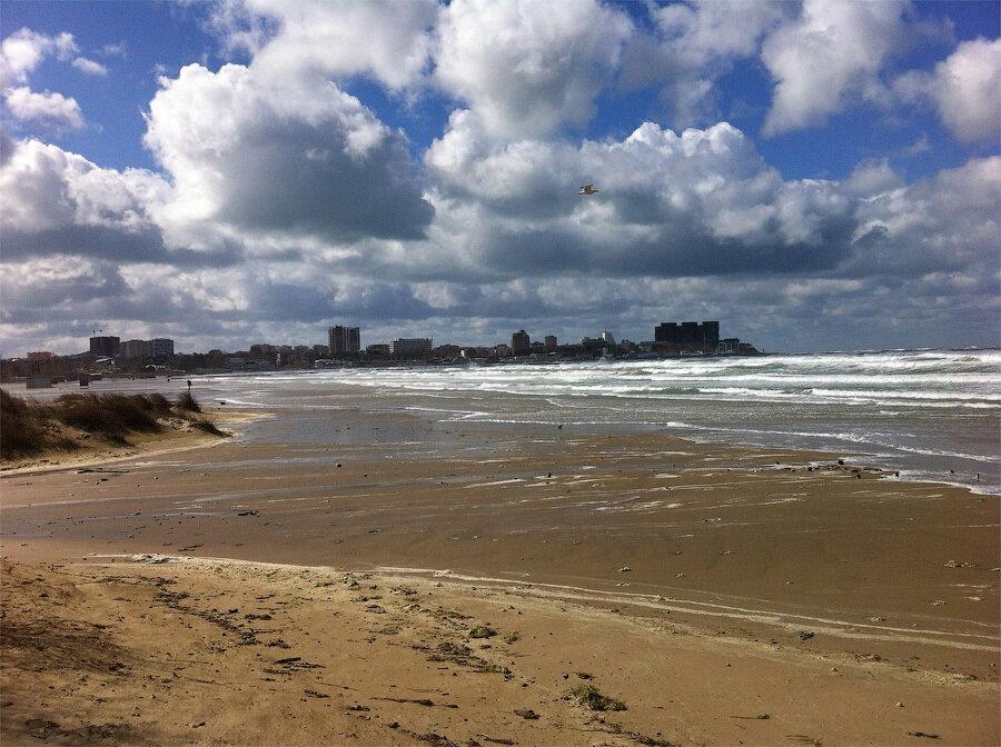 Анапа шторм на пляже