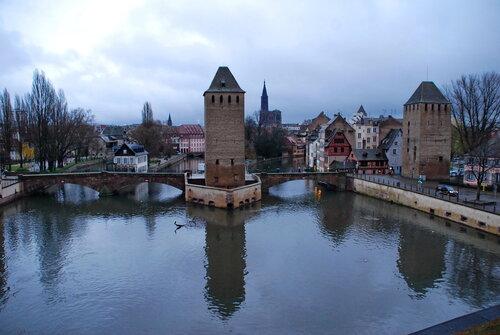 Cтрасбург в дождливый день