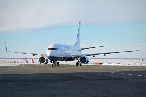 Авиакомпания ORENAIR встретила самолет Boeing 737-800