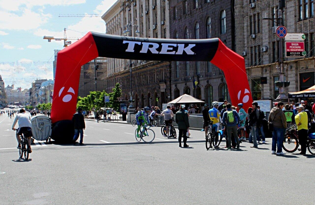 Старт велогонок на Крещатике