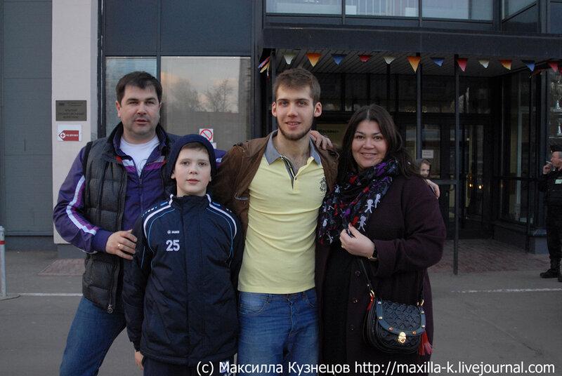Сергей Соловьев с семьей