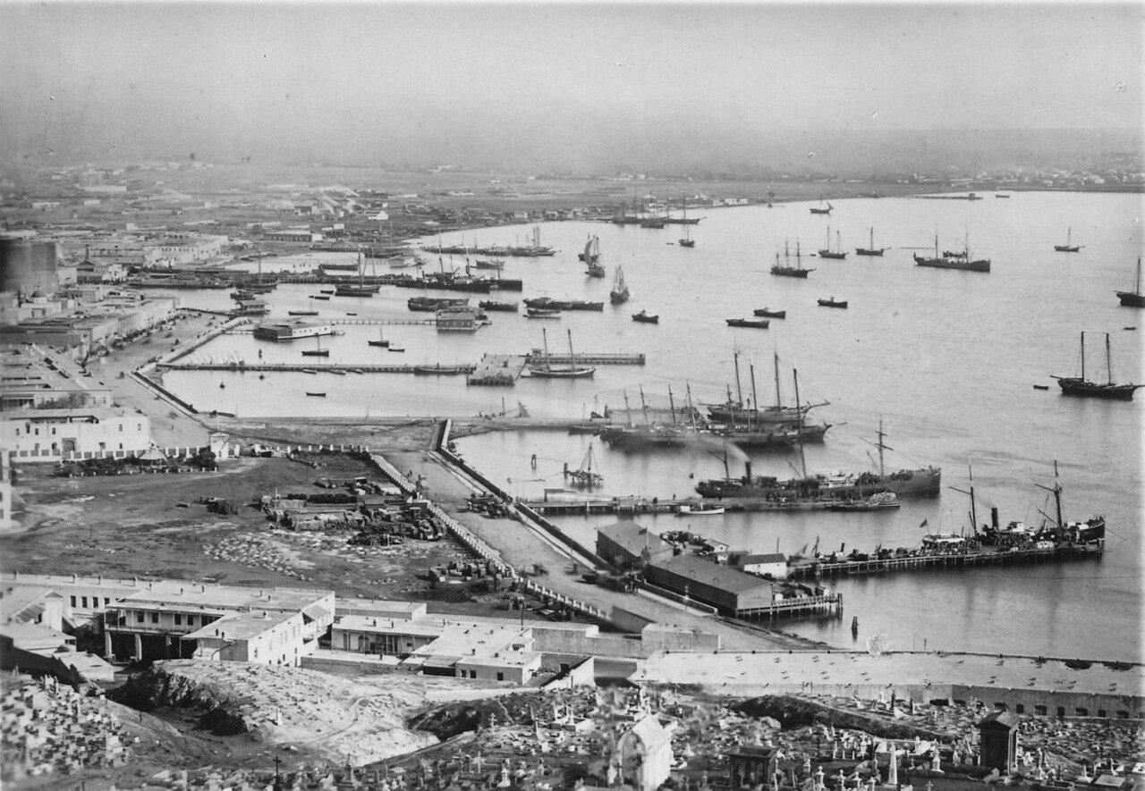 Вид на гавань, Баку.