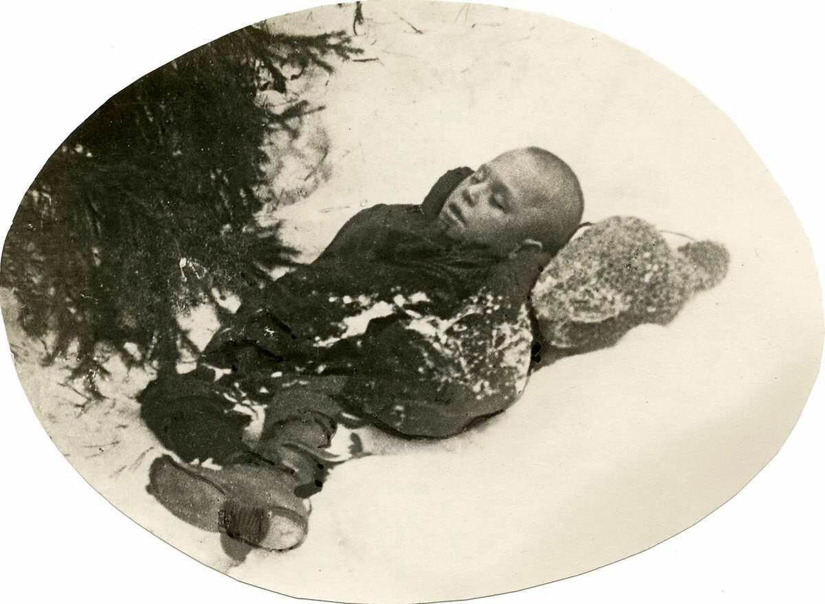 1924. Замерзший беспризорник