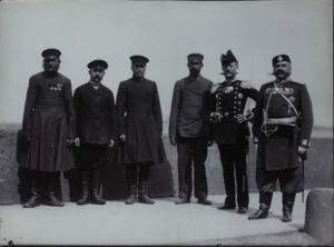 Члены I-й Государственной Думы слева направо - Кириленко И.П., Готовчиц С.И., Круткин М.М., Филоненко М.Ф. 1906