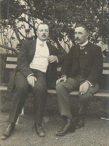 Члены I Государственной Думы В.Д.Набоков и А.Ф.Аладьин. 1906