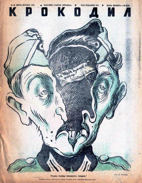 Н.Радлов. Разрез головы немецкого солдата