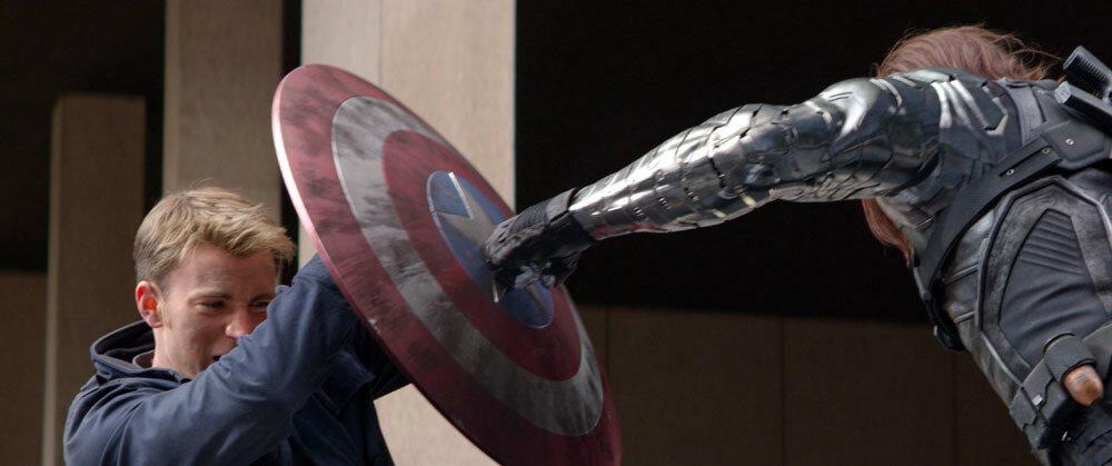 """Marvel's Captain America: The Winter Soldier""L to R: Captain America/Steve Rogers (Chris Evans) & Winter Soldier/Bucky Barnes (Sebastian Stan)Ph: Film Frame© 2014 Marvel.  All Rights Reserved."