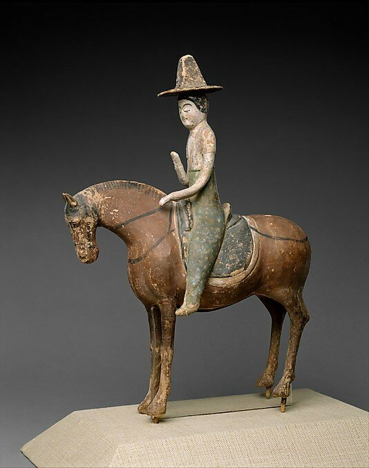 Horse and Female Rider  Tang dynasty (618–907) 7th century