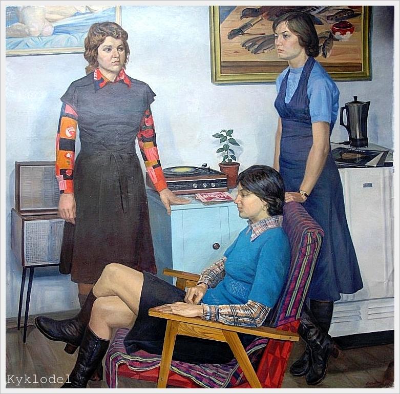 Невзгодин Анатолий Никифорович (Россия, 1932) «Подруги» 1977.jpg