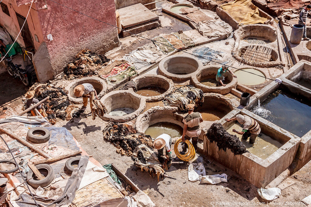 Кожевенное производство в Маракеше