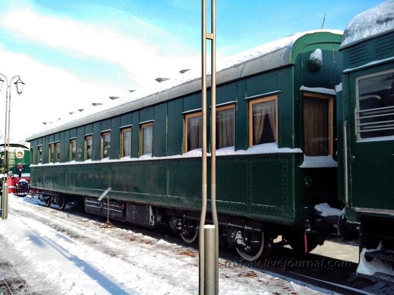 Салон-вагон четырехосный Владикавказского типа, Музей РЖД, Москва