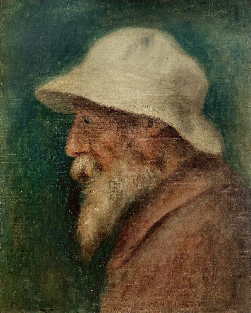 Self Portrait with a White Hat, 1910.jpeg