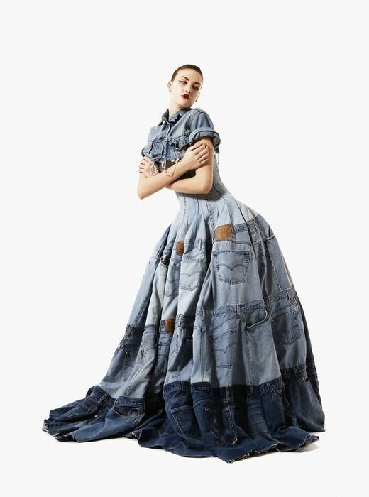 шьем из джинс. Sewing of old jeans