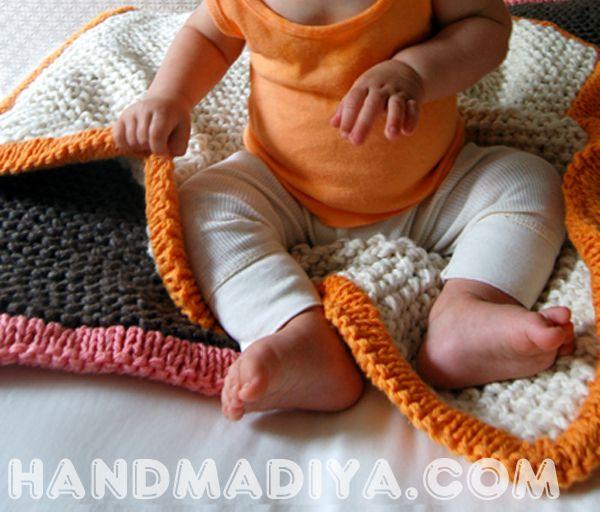 Простой пледик для ребенка. Blanket for the baby