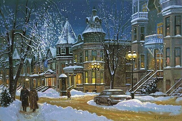 Зимний вечер в городе