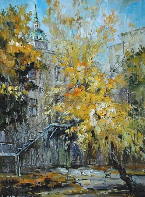 Анна Чарина. Золотое дерево. Двор на Пятницкой.jpg