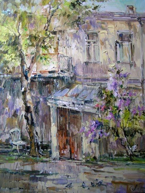 Анна Чарина. Май. Двор в Б. Знаменском переулке.jpg