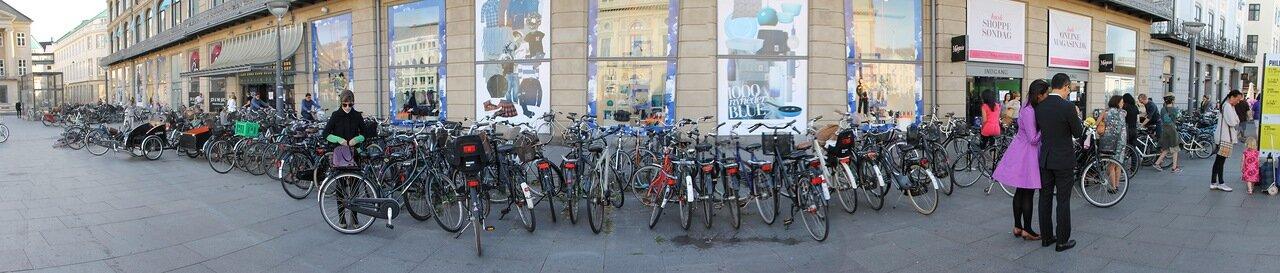 Копенгаген, площадь Конгенс  Ниторв. Copenhagen, Kongens Nytorv, King's New Square