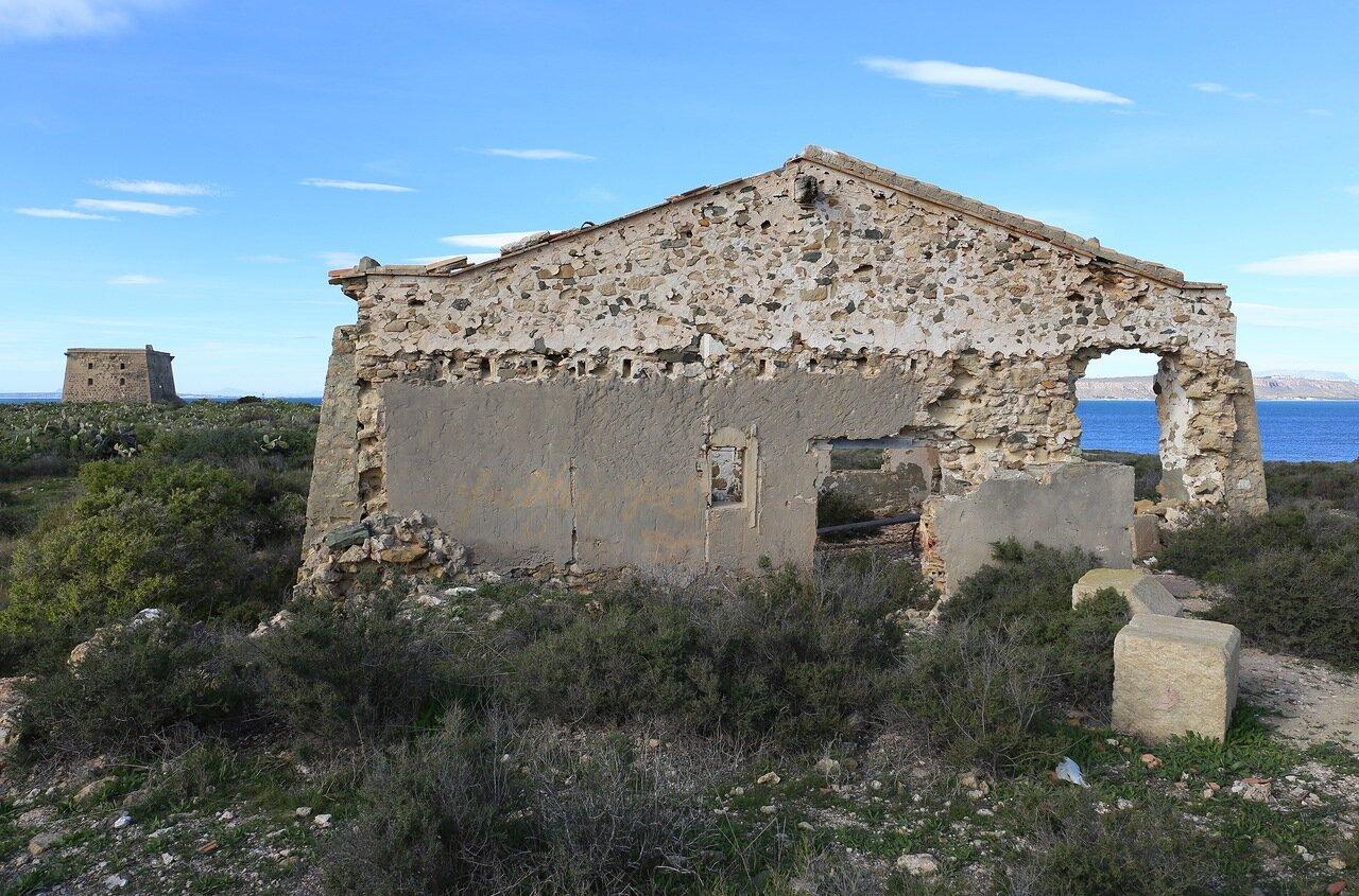 Остров Табарка. Руины