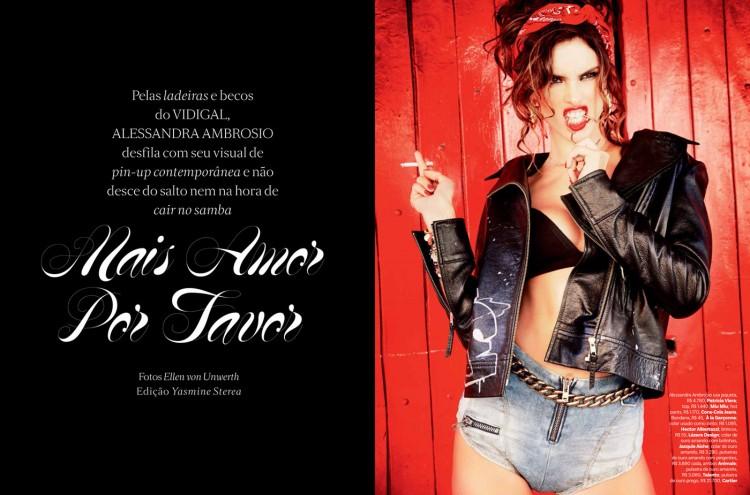 Алессандра Амбросио (Alessandra Ambrosio) в сентябрьском номере журнала Vogue Brazil