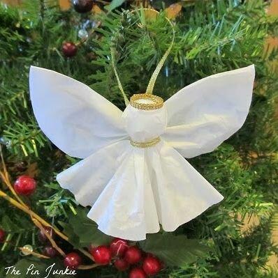 Как сделать рождественского ангела своими руками из