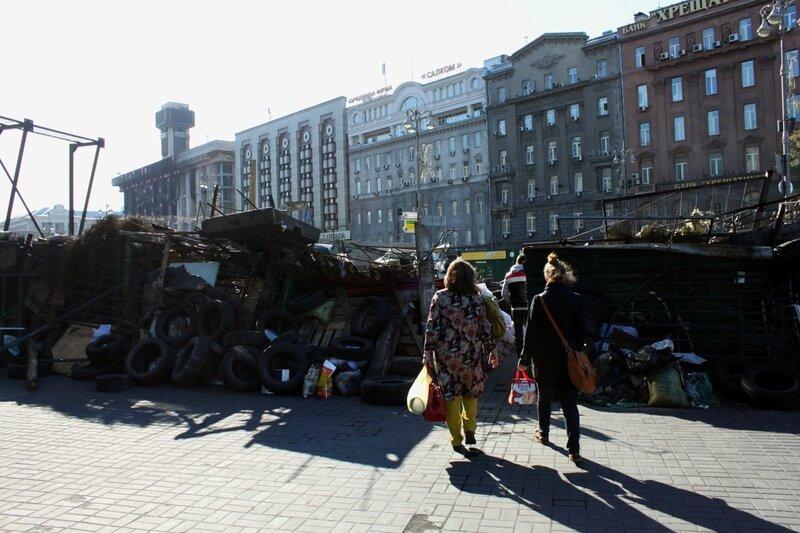 Баррикада на Европейской площади