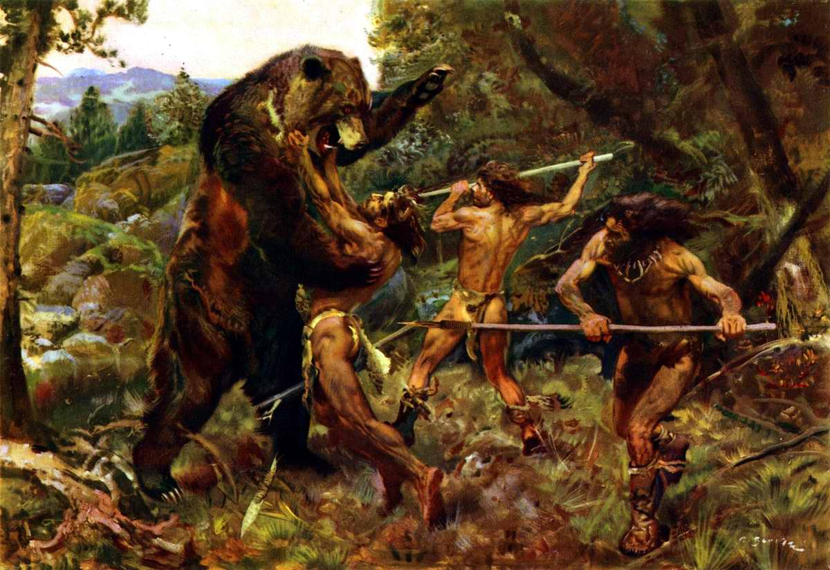 Охота на пещерного медведя - Зденек Буриан