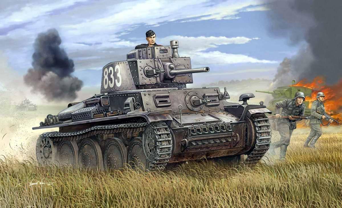 Немецкий легкий танк Pz.Kpfw.38 (Vincent Wei)
