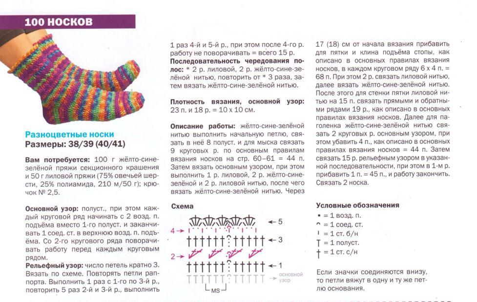 Вязание спицами носки следки спиральки тапочки с описанием 94