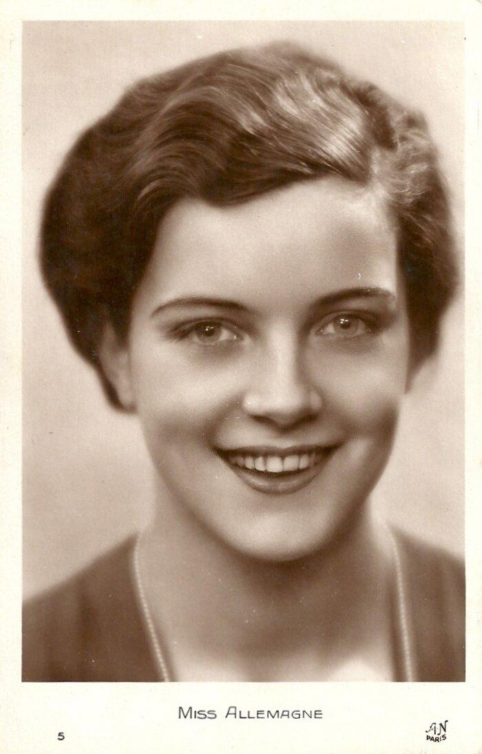 Мисс Германия. Дорит Нитиковски (29 апреля 1911 в Берлин-Friedenau - до 2000)