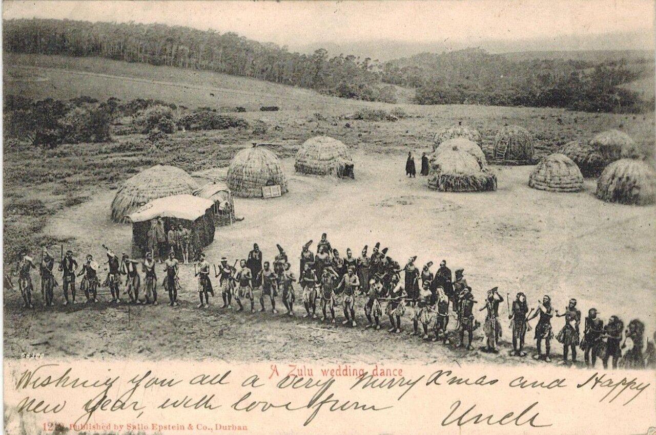 1905. Свадебный танец зулусов, Трансвааль, Южная Африка