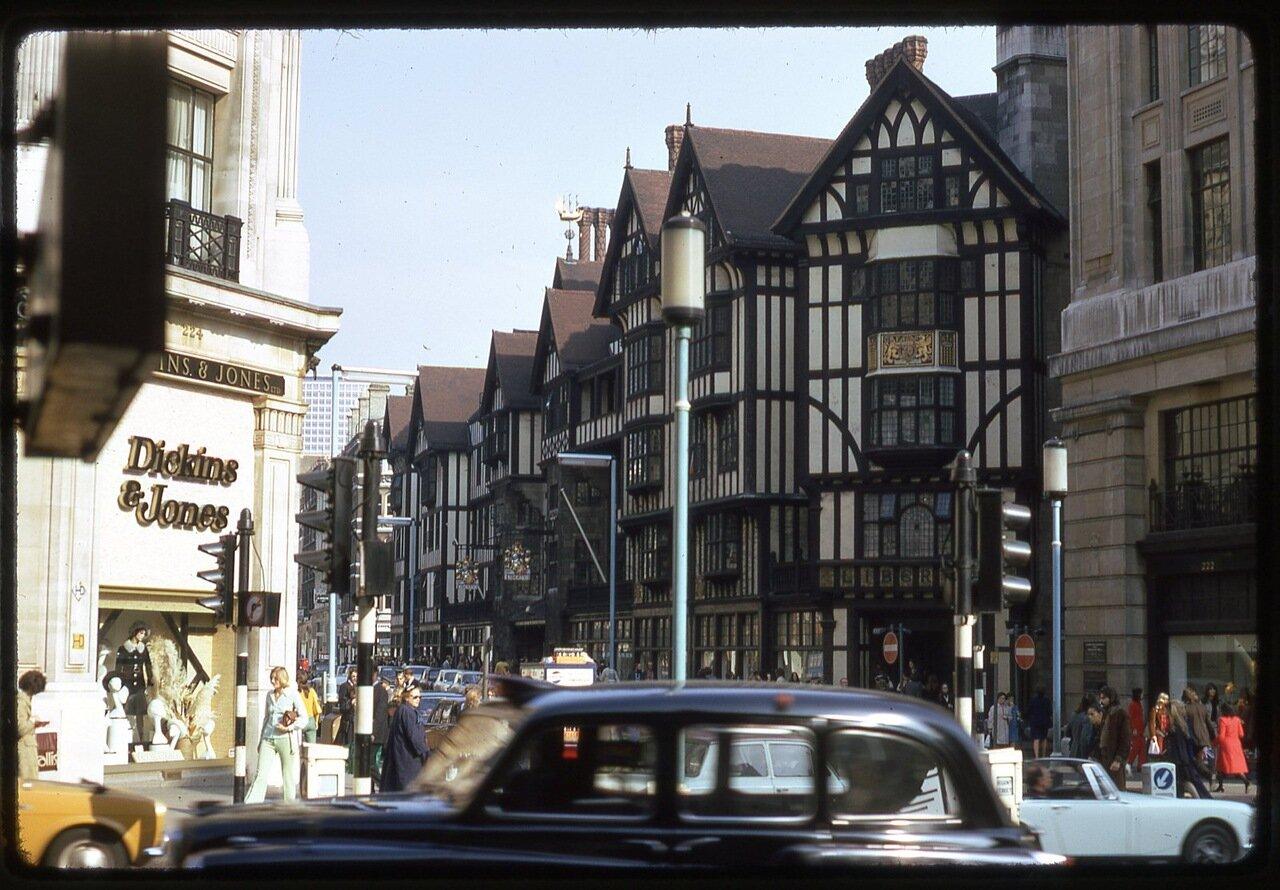 Nov 72 - 21 [Left Dickins & Jones Department Store, 244 Regent Street, London; Right Liberty Department Store]