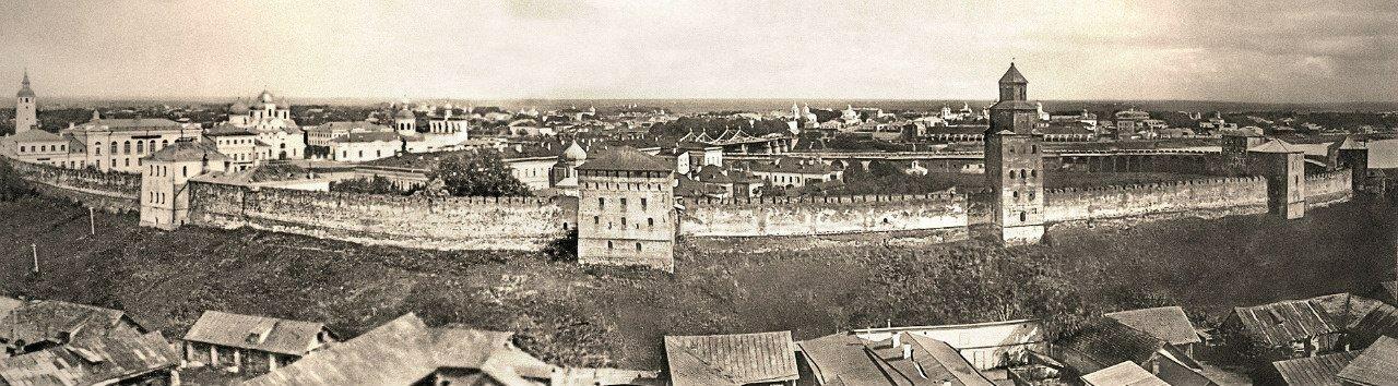 Новгородский кремль конца XIX - начала XX века
