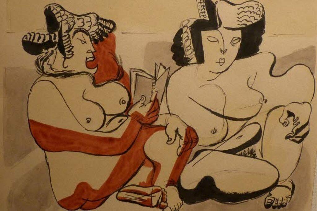 1922. Ман Рэй. Портрет Кики с Монпарнаса