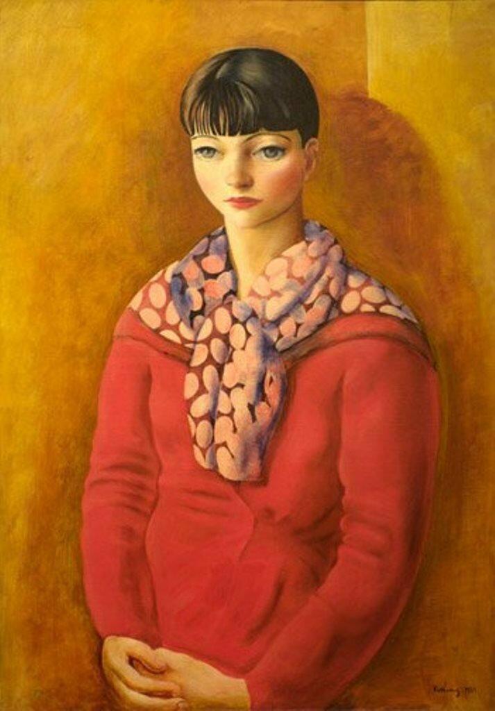 1933. Mоисей Кислинг. Кики с Монпарнаса в красном платье