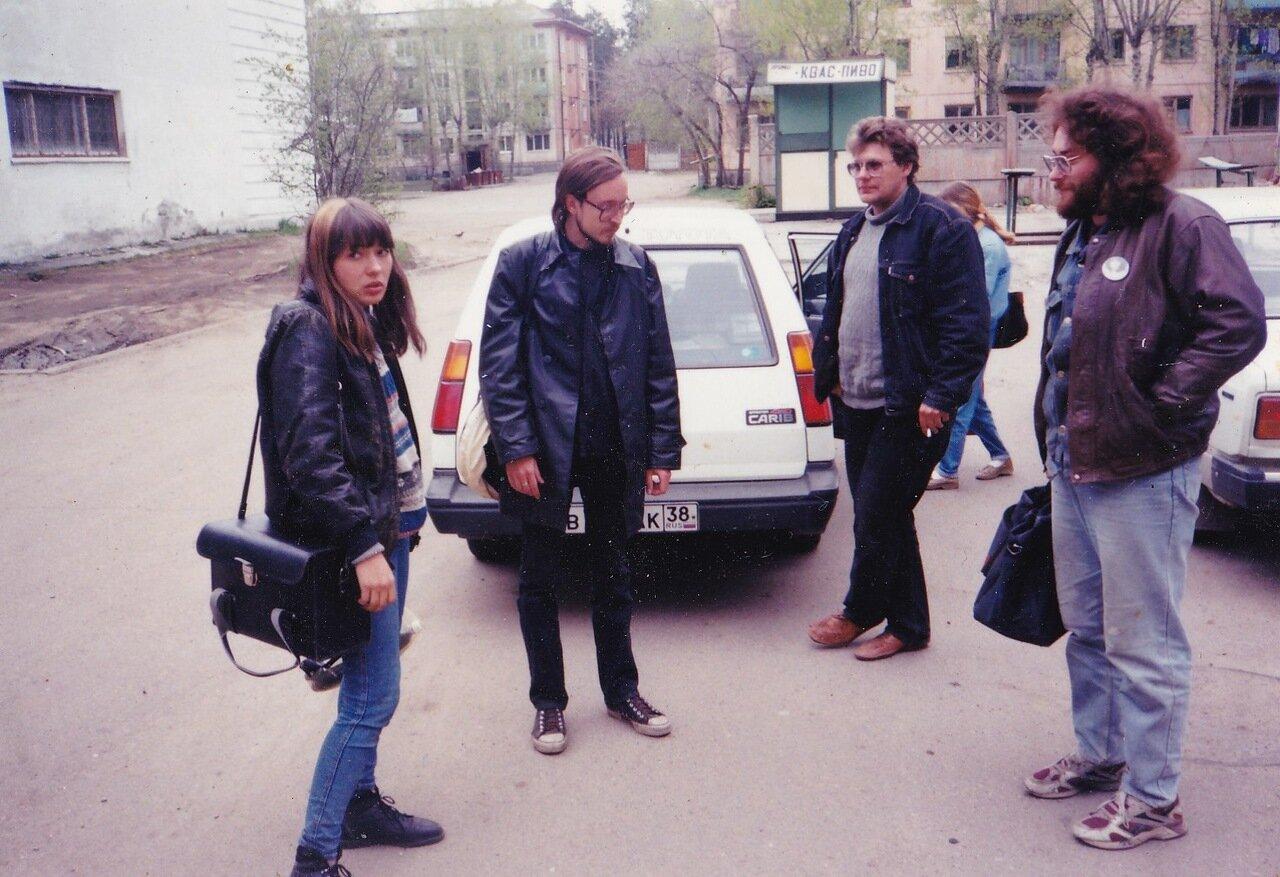 1995. Ангарск. Перед концертом